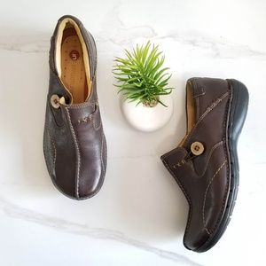 Clarks Unstructured Un loop Loafers Brown Slip On